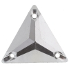 Sew-on Metallic Stones 50pcs 22mm Triangle Silver